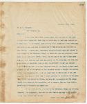 Letter to Mr. M.L. Kincaid, December 10, 1894