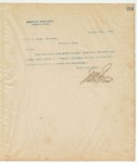 Letter to Mr. W.A. Brown, Secretary (AKA W.A. Brown Esq., Sec.), February 18, 1895