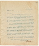 Letter to Leroy Percy, Esq., March 12, 1895