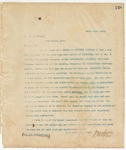 Letter to Mr. R.C. Gibson, March 13, 1895
