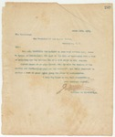 Letter to President of the United States, March 15, 1895