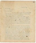 Letter to Mr. S.M. Stone, March 13, 1895