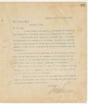 Letter to Hon Charles Scott, March 14, 1895