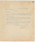 Letter to Hon. L.T. Kimbrough, March 14, 1895