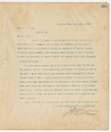 Letter to Hon. D. W. Pipes, March 14, 1895