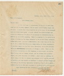 Letter to Hon. J.G. Spencer, March 14, 1895