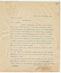 Letter to Capt. F.M. Andrews, March 14, 1895