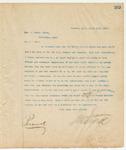 Letter to Hon. J. Holmes Baker, March 14, 1895