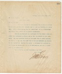 Letter to Dr. J.W. Stewart, March 15, 1895