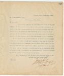 Letter to M.A. McClaugherty, Esq., March 15, 1895