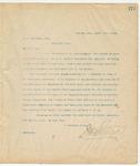 Letter to C.W. Robinson, Esq., March 15, 1895