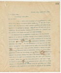 Letter to F.S. Hewes, Esq., March 15, 1895