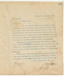 Letter to Ira Ford Esq., March 15, 1895