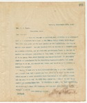 Letter to Hon. W.G. Kiger, March 15, 1895