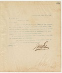 Letter to R.B. May Esq., March 17, 1895