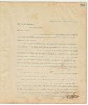 Letter to Hon. H.S. Van Eaton, March 17, 1895