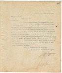 Letter to Hon. A.M. Hicks, March 17, 1895