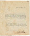 Letter to S. B. Brown Esq., March 17, 1895