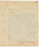 Letter to Max Ginsberger, Esq., March 17, 1895