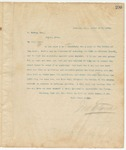 Letter to L. Marks, Esq., March 17, 1895