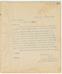 Letter to Hon. Z.M. Stephens, March 17, 1895