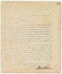 Letter to Dr. E.H. Anderson, March 19, 1895