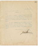 Letter to Secretary of State, March 20, 1895