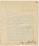 Letter to Hon. Wm. M. Inge, March 20, 1895