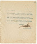 Letter to To Whom it may Concern, March 20, 1895