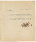 Letter to Mr. J.H Davis, March 20, 1895