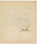 Letter to Hon Chas. B. Bowry, Asst. Atty, General, March 21, 1895