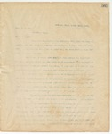 Letter to Hon J.A. Orr, March 21, 1895