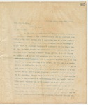 Letter to Hon. Geo. W. Bynum, March 22, 1895