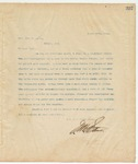 Letter to Hon. John W. Heath, March 25, 1895