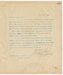 Letter to To Whom it may Concern, March 25, 1895