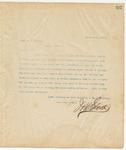 Letter to Capt. C.L. Harris, March 26, 1895