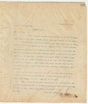 Letter to Capt. T.J. Buchanan, March 26, 1895