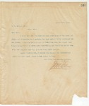 Letter to T.B.Dudley, Esq., March 29, 1895