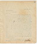 Letter to Capt. John H. Miller, March 29, 1895
