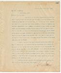 Letter to Rev. Dr. J. Wehsler, March 31, 1895