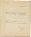 Letter to Hon. W.T Rush, April 3, 1895