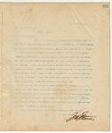 Letter to Hon. L.P. Reynolds, April 9, 1895