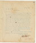 Letter to Hon. John A Redhead, April 15, 1895