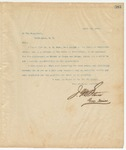 Letter to President of the United States, April 16, 1895