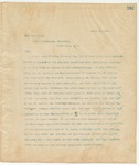 Letter to Grover Cleveland, President, April 21, 1895