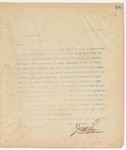 Letter to W. J. Crawford Esq., May 15, 1895