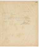 Letter to W.A. Brown, Esq, Sec., May 18, 1895