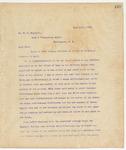Letter to Mr. M.V. Richards, June 13, 1895