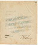 Letter to Gov. W.C. Oates, July 29, 1895