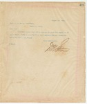 Letter to Capt. W.A. Brown, August 20, 1895